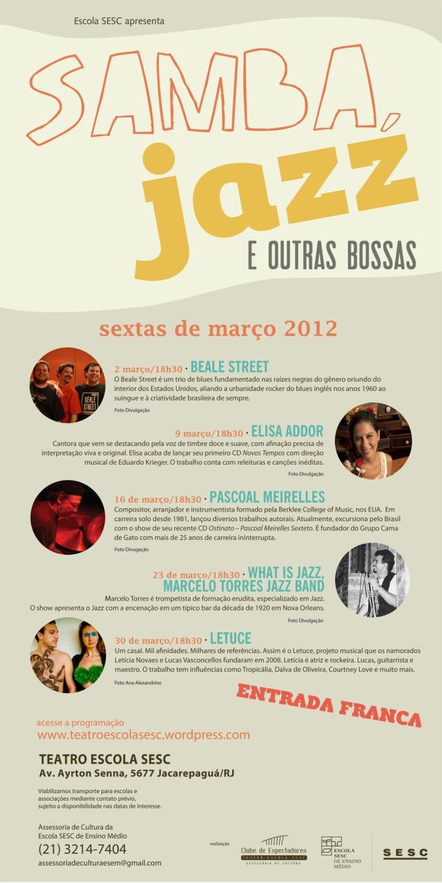 Samba, Jazz e outras Bossas - 2012